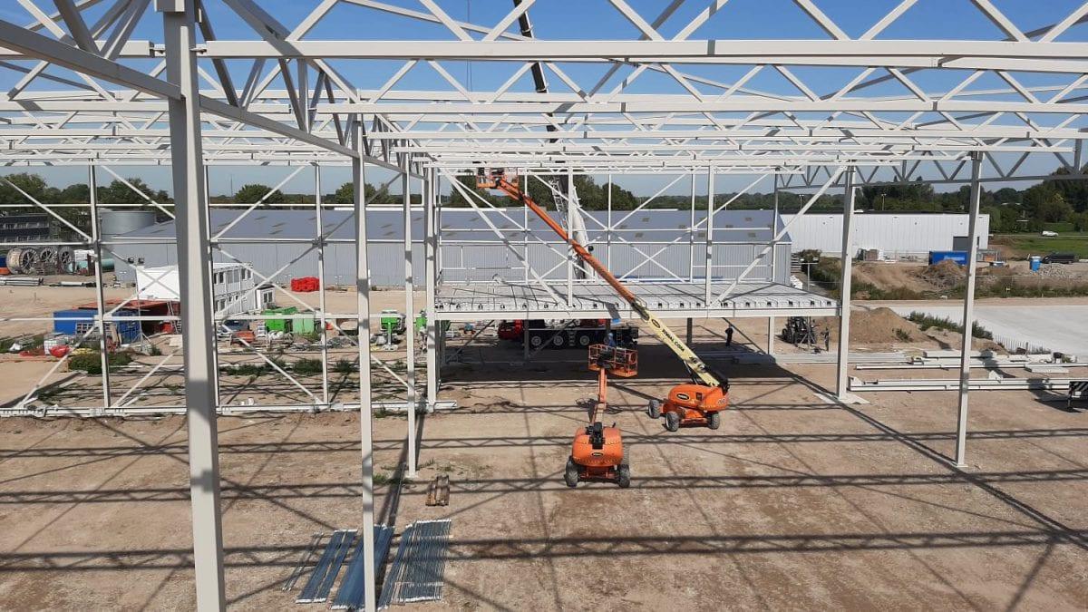 Distributiecentrum de Wildeman in Zaltbommel was klaar in negen weken dankzij de snelheid van GS Staalwerken.