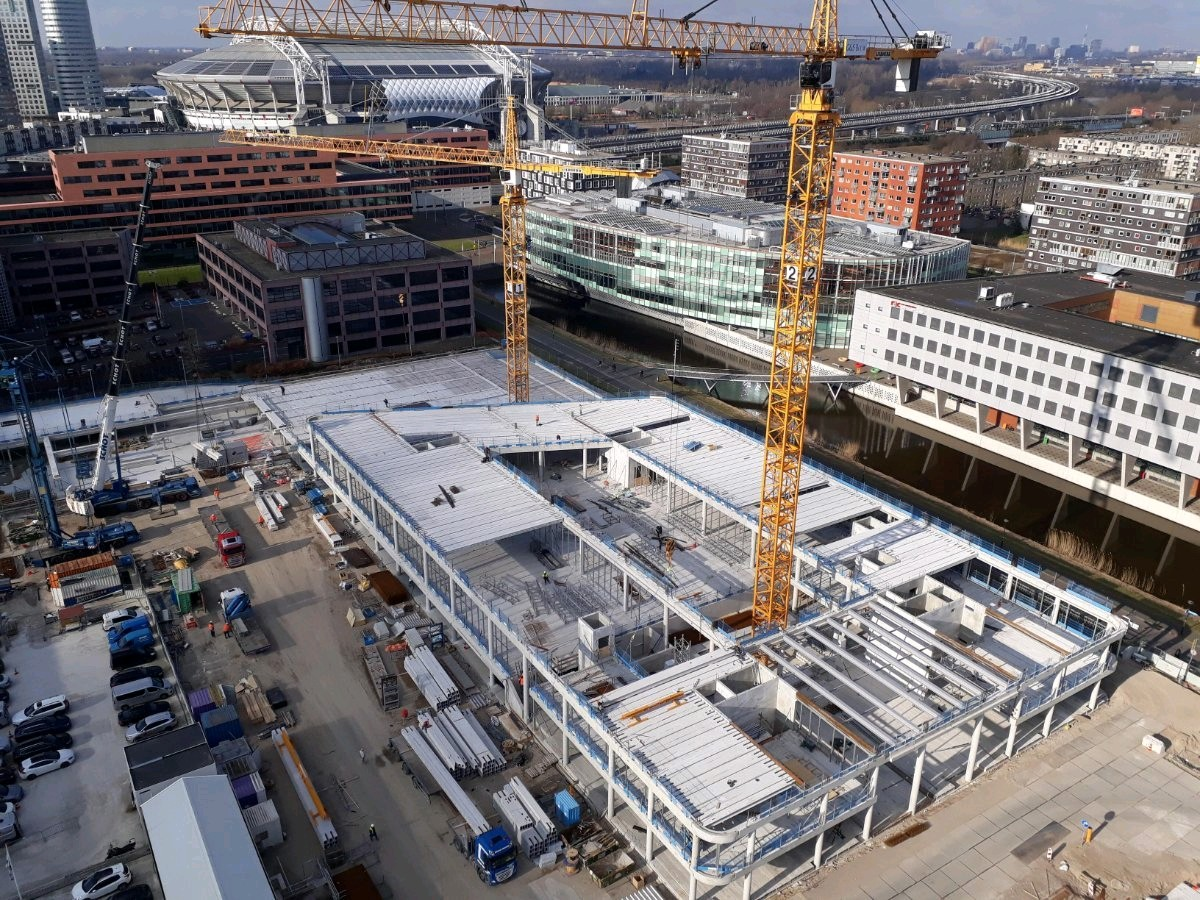 GS Staalwerken Moeskops zorgde voor de staalconstructies van ING Hoofdkantoor.